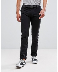 Tom Tailor Chino With Belt In Black