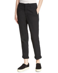 Vince Cuffed Flat Front Chinos Black