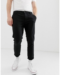 ASOS DESIGN Skinny Cropped Chinos In Black