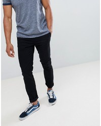 Burton Menswear Skinny Fit Chino In Black