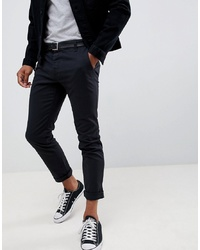 Pier One Slim Fit Chino In Black