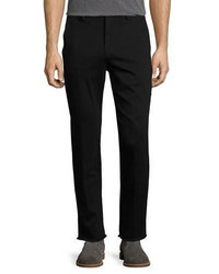 Joe's Jeans Soder Slim Straight Chino Pants With Cut Hem Black
