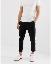 ASOS DESIGN Super Skinny Cropped Chinos In Black