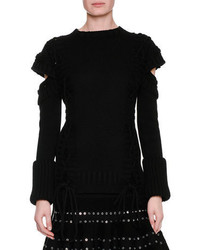 Alexander McQueen Chunky Lace Up Detached Sleeve Pullover