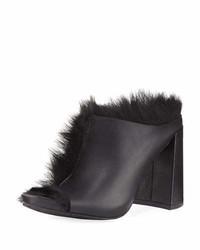 Pedro Garcia Yeruti Chunky Heel Fur Slide Sandal