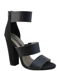 Michael Antonio Michl Antonio Michl Antonio Joxy Triple Banded Chunky High Heel Sandals