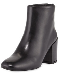 Bacari leather chunky heel bootie black medium 648778