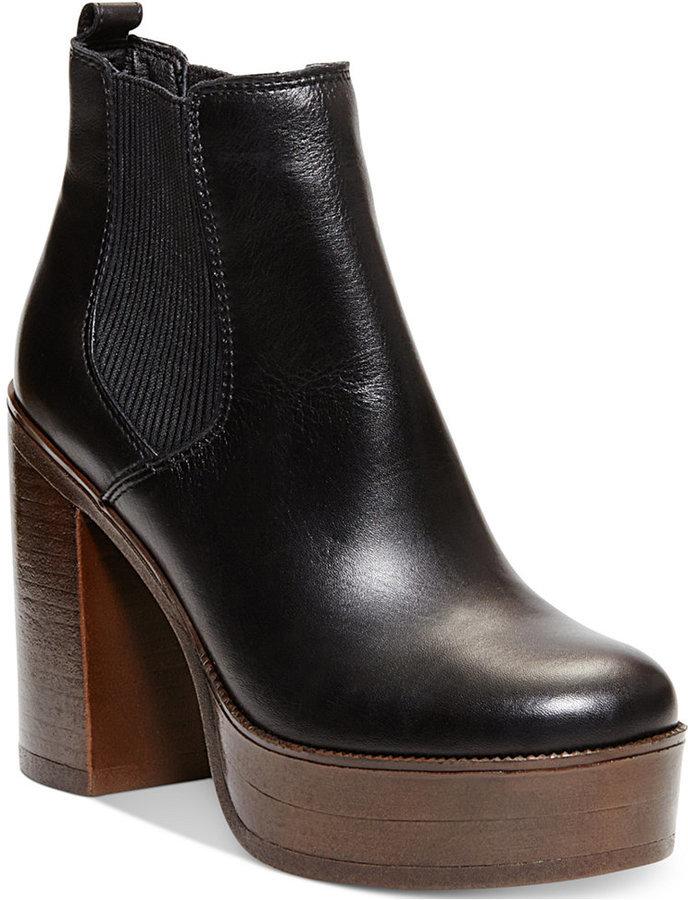 17982446057 Steve Madden Geanna Chunky Heel Platform Booties