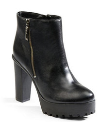 Schutz Nena Leather Platform Ankle Boots