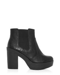 New Look Black Chunky Platform Chelsea Boots