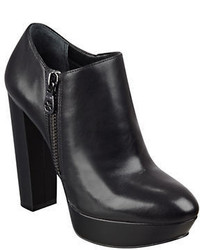 GUESS Paprikka Platform Leather Ankle Booties