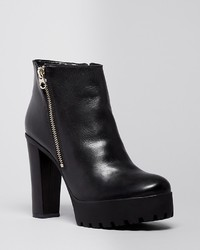 Schutz Platform Lug Sole Booties Nena High Heel