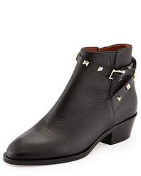Valentino Rockstud Leather 70mm Chunky Heel Bootie