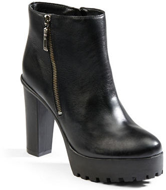 Schutz Nena Leather Platform Ankle Boots | Where to buy & how to wear