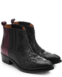 Golden Goose Deluxe Brand Two Tone Leather Cowboy Boots