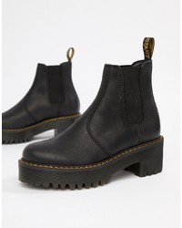 Dr. Martens Rometty Black Leather Ed Chelsea Boots