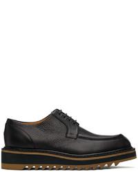 Dries Van Noten Black Ed Leather Derbys