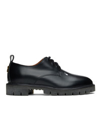 Off-White Black Leather Derbys