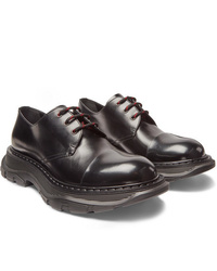 Alexander McQueen Exaggerated Sole Leather Derby Shoes
