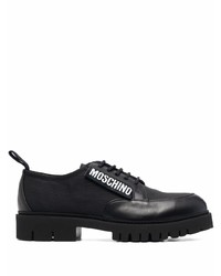 Moschino Logo Patch Lace Up Shoes