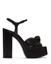 Saint Laurent Black Bianca 85 Heeled Sandals