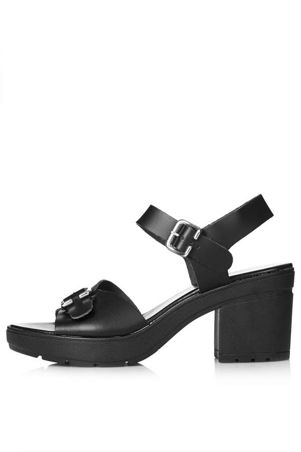 Topshop Black Chunky Sandals With