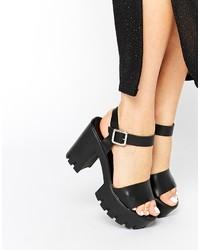 Asos Collection Hazeline Leather Heeled Sandals