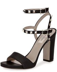 Garavani rockstud 100mm chunky heel sandal medium 4106092