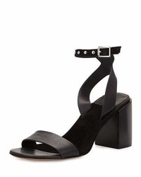 Rag & Bone Gia Leather Chunky Heel Sandal Black