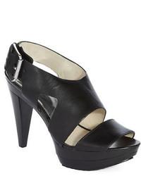 MICHAEL Michael Kors Michl Michl Kors Carla Leather Platform Sandal Heels