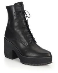 Ld Tuttle Arrow Leather Lace Up Platform Boots