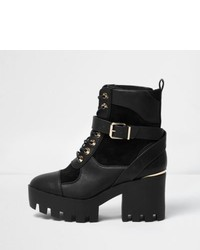 Black panel chunky platform boots medium 1316656