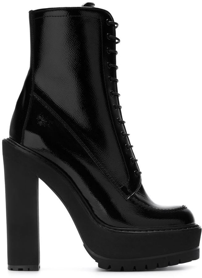 Givenchy Lace Up Platform Boots