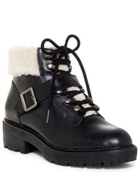 Kelsi Dagger Brooklyn Monroe Genuine Shearling Detail Lace Up Boot