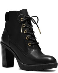 Michael Kors Kim Lace Up Leather Ankle Boot