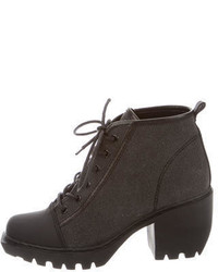 Opening Ceremony Grunge Lace Up Booties
