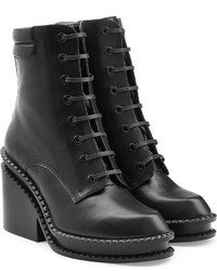 Robert Clergerie Leather Platform Ankle Boots