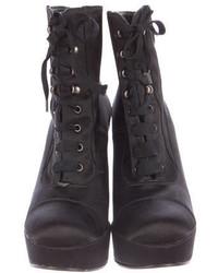Robert Clergerie Satin Platform Ankle Boots