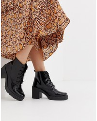 ASOS DESIGN Rosa Chunky Lace Up Boots