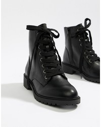 New Look Lace Up Flat Boot