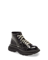 Alexander McQueen Lace Up Lug Sole Hiker Boot