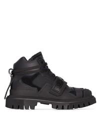 Dolce & Gabbana Logo Combat Boots