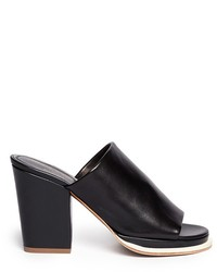 Robert Clergerie Astro Contrast Trim Leather Mules