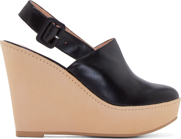 Robert Clergerie Leather Platform Mules discount codes clearance store 5OHfn
