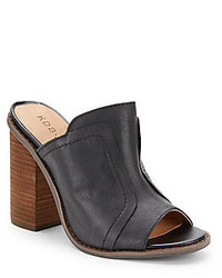 Bowery Leather Open Toe Mules