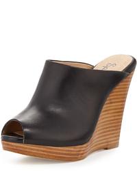 Splendid Brooklyn Leather Mule Slide Black