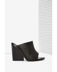 Nasty Gal Cameo Collective Exempt Leather Mule Black