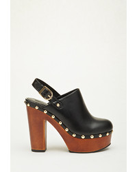 Forever 21 Faux Leather Platform Clog