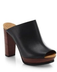 See by Chloe Leather Open Toe Mules