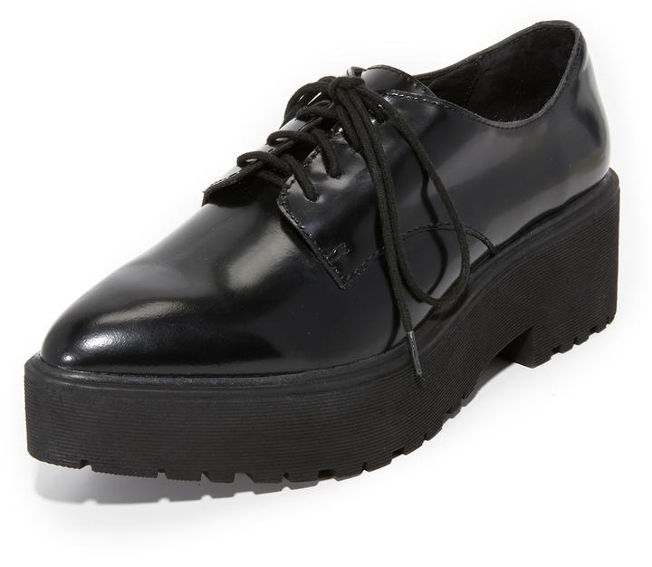 ... Black Chunky Leather Oxford Shoes Jeffrey Campbell Bardem Platform  Oxfords ... aa156d0e7